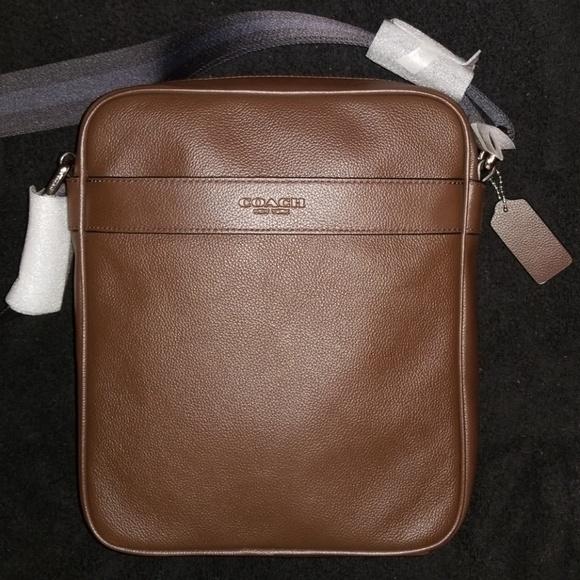 80827ab78cea Coach Mahogany Charles flight leather man bag